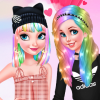 Princesses Pastel Hairstyles